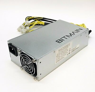 New Bitmain Power Supply APW3++- 12V 1600W PSU A3 PCI L3+ D3  S7 S9 110-220V USA