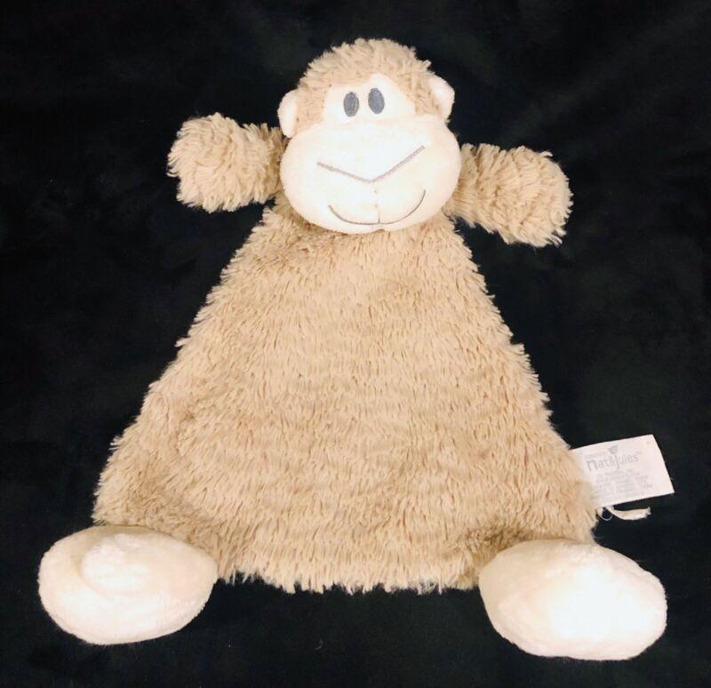 Nate Jules Monkey Lovey Security Blanket Tan Brown