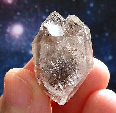 Genuine Quartz Herkimer Diamond Crystal, Ace of Diamonds Mine New York 30mm 💎✨
