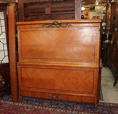 Beautiful Antique French Rosewood Louis XVI Queen Size Bed