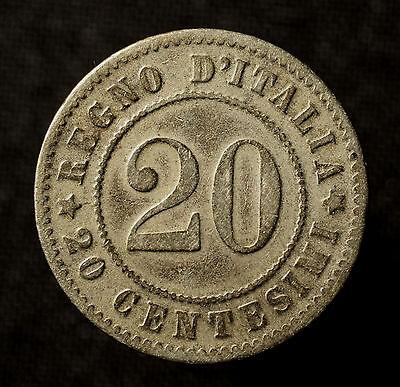 Kgr. Italien, Umberto I., 20 Centisimi 1895 Rom