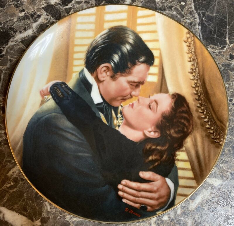 """Gone With the Wind """"Marry Me, Scarlett!"""" Collector Plate Bradford Exchange 1991"""
