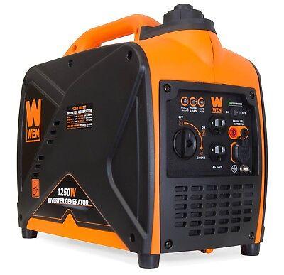 Wen 56125I 1250 Watt Gas Powered Inverter Generator  Carb Compliant