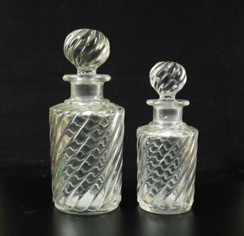 Pair Of Bottles Fragrances XIX ° Th Crystal Italy? Antique Perfumes