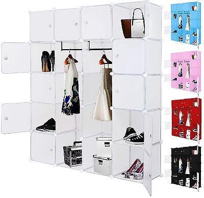 Kesser® Kleiderschrank DIY Schrank Regalsystem Steckregal Garderobe Schuhregal