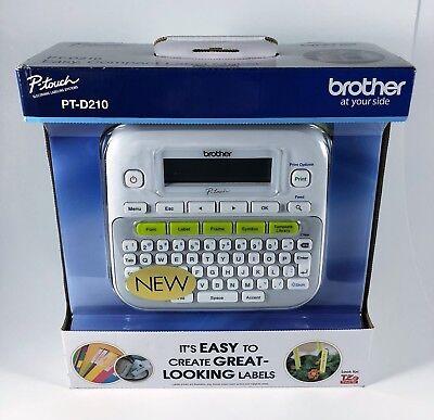 Brother P-touch Pt-d210 Handheld Tape Label Makerprinter Nib-sealed