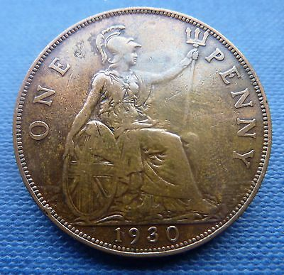 Great Britain1930 George V Penny coin.Very nice example. 1d