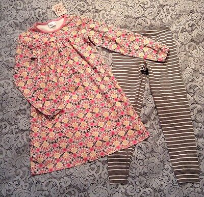 Girls NEW Hanna Andersson Floral/Stripe 2 Piece Clothing Set  Size 140/150  - Girls Clothing 2 Piece