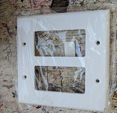 Lot of 47 Eaton 2052W White  2-Gang Decorator GFCI Mid Size Wall Plates