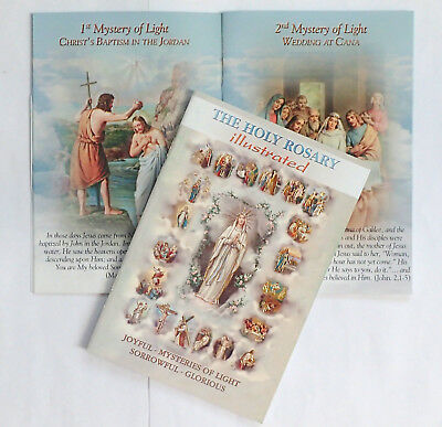 The Holy Rosary illustrated Paperback Book  Religious Gift