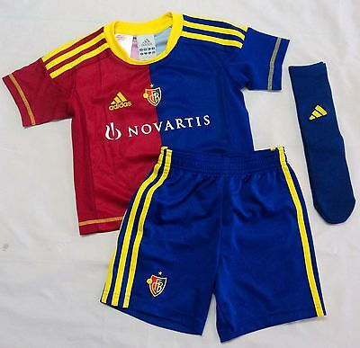 F.C.BASEL 2012/13 HOME MINI KIT BY ADIDAS SIZE 4-5 YEARS BRAND NEW WITH TAGS