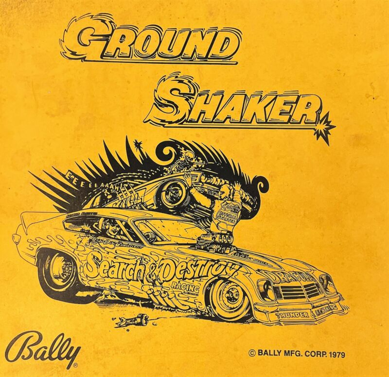 Bally Nitro GroundShaker Pinball Manual Schematics BONUS Electronic Repair 560-1