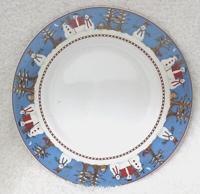 Snowman by Sakura Bread & Butter Plate Great Shape Discontinued 1997 - 2002 SHP