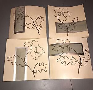 4 Flower Canvas Pictures