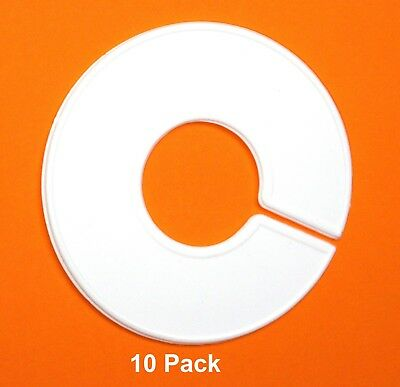Plastic 10 Clothing White Blank Size Rack Ring Divider