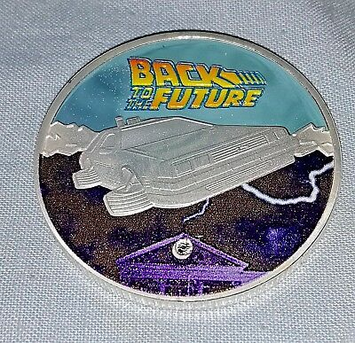 Back to the Future Silver Coin Delorean 2015 Science Fiction Movie Trilogy I II