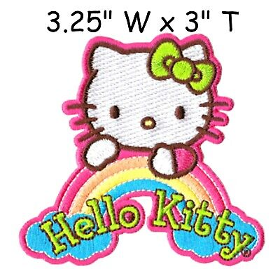 HELLO KITTY PATCH EMBROIDRED SEW/IRON ON DIY Officially Licensed