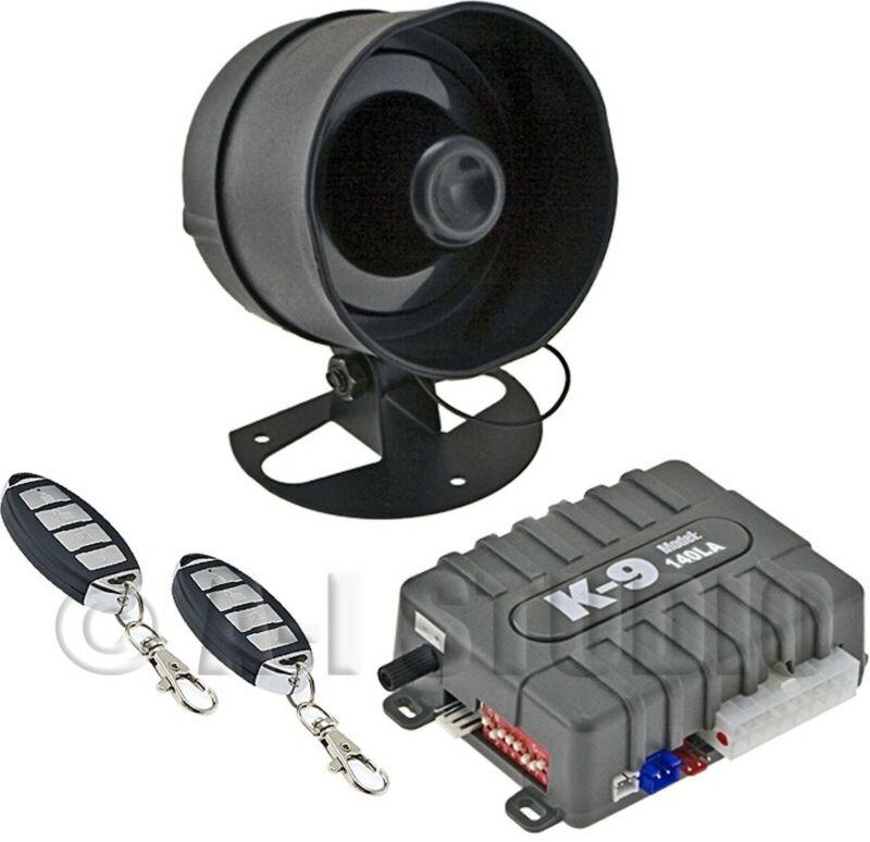 OMEGA K9-140LA CAR 1-WAY SECURITY KEYLESS ENTRY ALARM SYSTEM W/SHOCK SENSOR/AUX