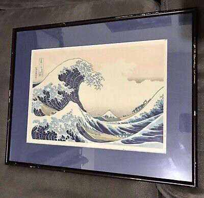 "Poster Japanese Japan Hokusai Katsushika Ukiyo-e The Great Wave off  46/"" x 32/"""