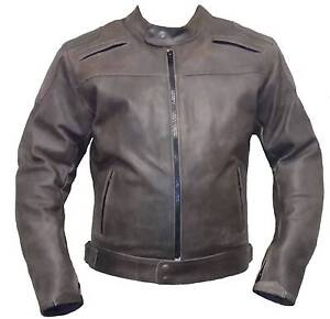 Motorcycle Biker Distressed Leather Jacket CE Armour protection Clayton Monash Area Preview