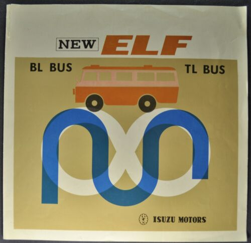 1964 Isuzu Elf Bus BL TL Truck Brochure Folder English Spanish Text Original 64