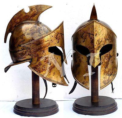 Halloween Armor Helmet King Leonidas Helmet Spartan Roman 300 Costum