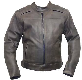 Motorcycle Biker Distressed Leather Jacket CE Armour protection