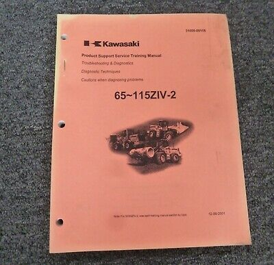 Kawasaki 85ziv-2 Wheel Loader Troubleshooting Diagnostics Shop Service Manual