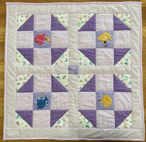 "Purple Baby Girl Quilt Handmade Princess Patchwork Design 40"" x 40"" New"