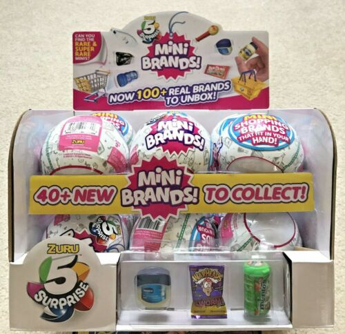 5 Surprise Mini Brands - 1 Ball 5 Figures Authentic By Zuru - New and Sealed