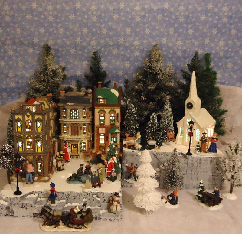 Christmas C Snow Village Display Platform Base Dept 56 Lemax St. Nicholas Square