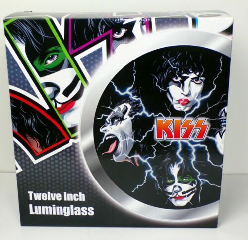 KISS Luminglass Sealed Spencers Exclusive Gene Simmons Ace Frehley Peter Paul