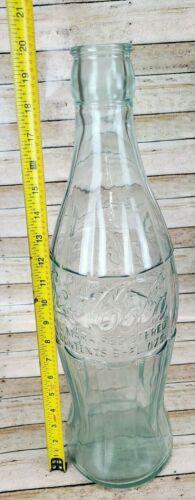 """20"""" Tall Coca Cola Coke Glass Huge Jumbo Bottle"""