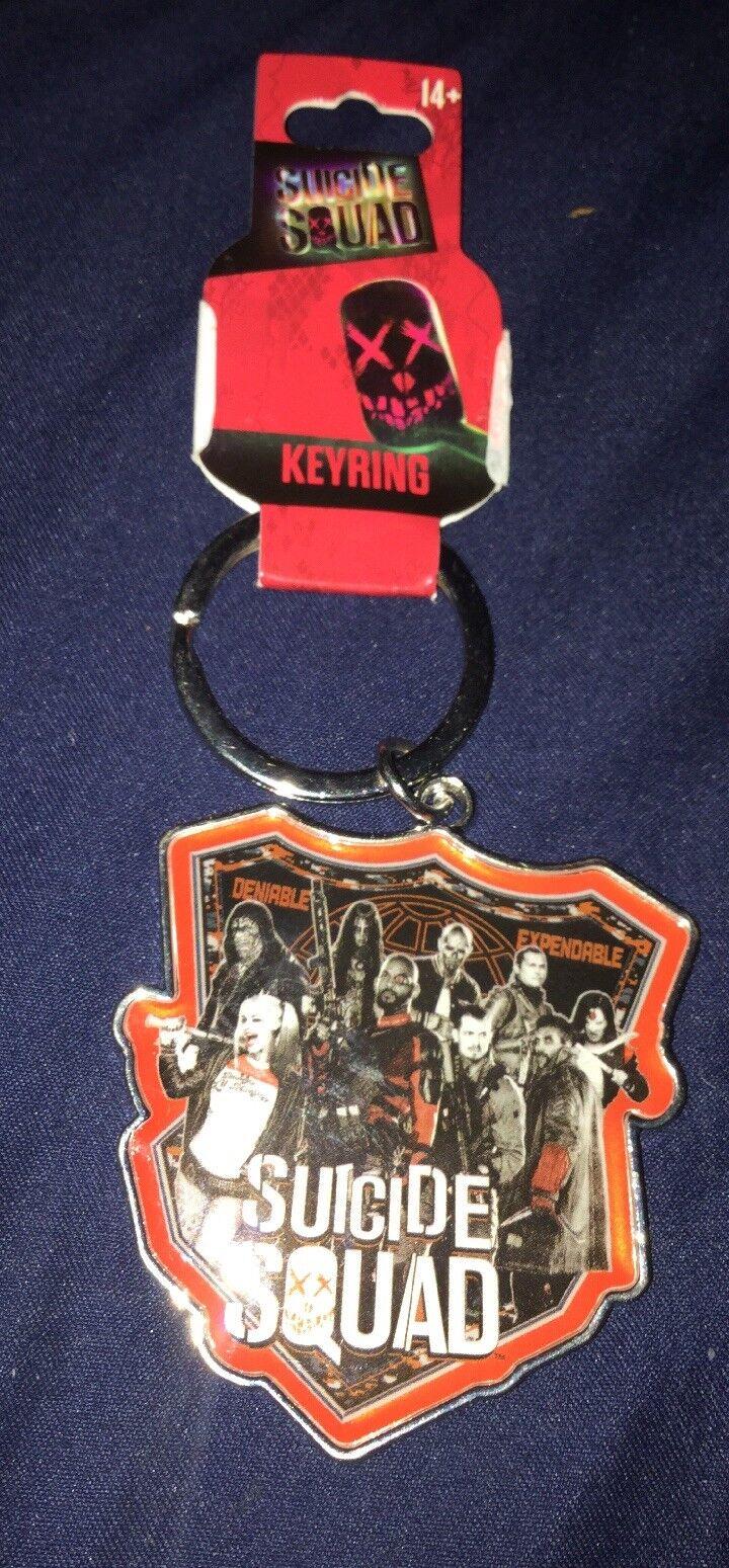 DC Suicide Squad Logo Pewter Keyring Official DC Merchandise