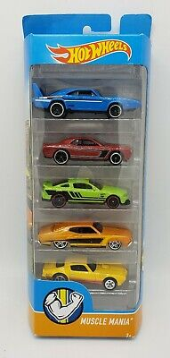 2017 HOT WHEELS 5-PACK MUSCLE MANIA, W/ 69 DAYTONA,70 TORINO,73 FIREBIRD,MUSTANG