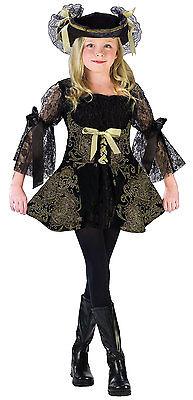 DELUXE PIRATE Princess GIRL HALLOWEEN COSTUME SIZE Med 8-10 Golden (Golden Girl Halloween Kostüm)