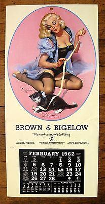 Pin Up Girl Blond (1962 Pin Up Girl Calendar by Elvgren Blond Playing w/ Kitten Denise)
