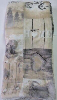 Manta de Polar Lana de Cordero Vías Impresas Matrimonio 200x210 CM