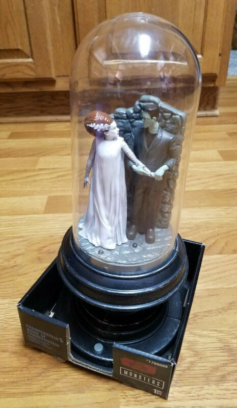 Universal Monsters FRANKENSTEIN & BRIDE OF FRANKENSTEIN animated cloche #1790088