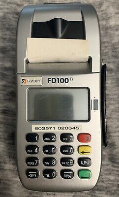 First Data Fd100 Ti Credit Card Machine