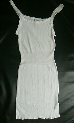Michelle Thermal - Michelle Lingerie White Thermal Vest 100% Cotton Size OS / Large NEW