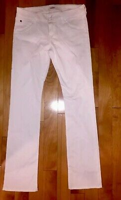 HUDSON WOMENS WHITE BETH BABY BOOT SLIN BOOT CUT JEANS SIZE 31 Flap Pocket D4 Beth Baby Boot