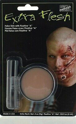 MEHRON MAKEUP_EXTRA FLESH W/FIXATIVE A_SCAR WAX MOLDING,STAGE/SPECIAL EFFECTS.