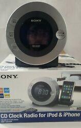 Sony Dream Machine ICF-CD3iP CD Player Alarm Clock Radio w iPod Dock