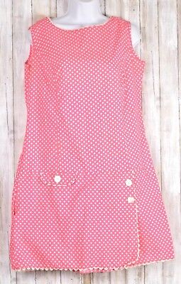Hot Pink With Polka Dots Sleeveless Dress With Shorts No Brand No Size