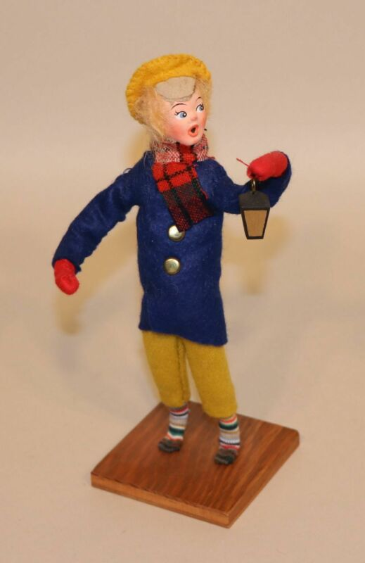 The Four Sisters Hanna Mendus Dickens Christmas Doll Caroler Boy with Lantern