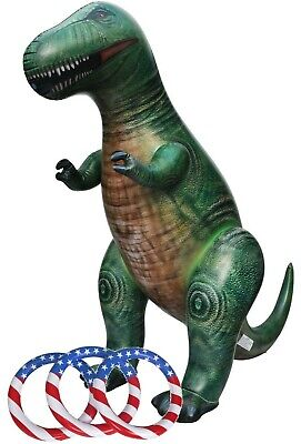 Inflatable T-Rex Tyrannosaurus Dinosaur Sprinkler Hoopla Game Outdoor Party Toy