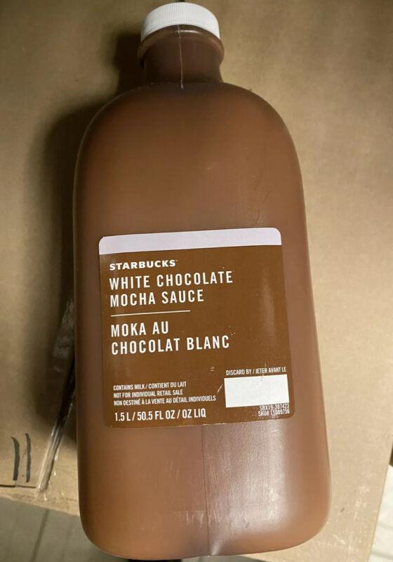 Starbucks White Chocolate Mocha Sauce Coffee Flavoring Syrup 50.5oz NEW SEALED