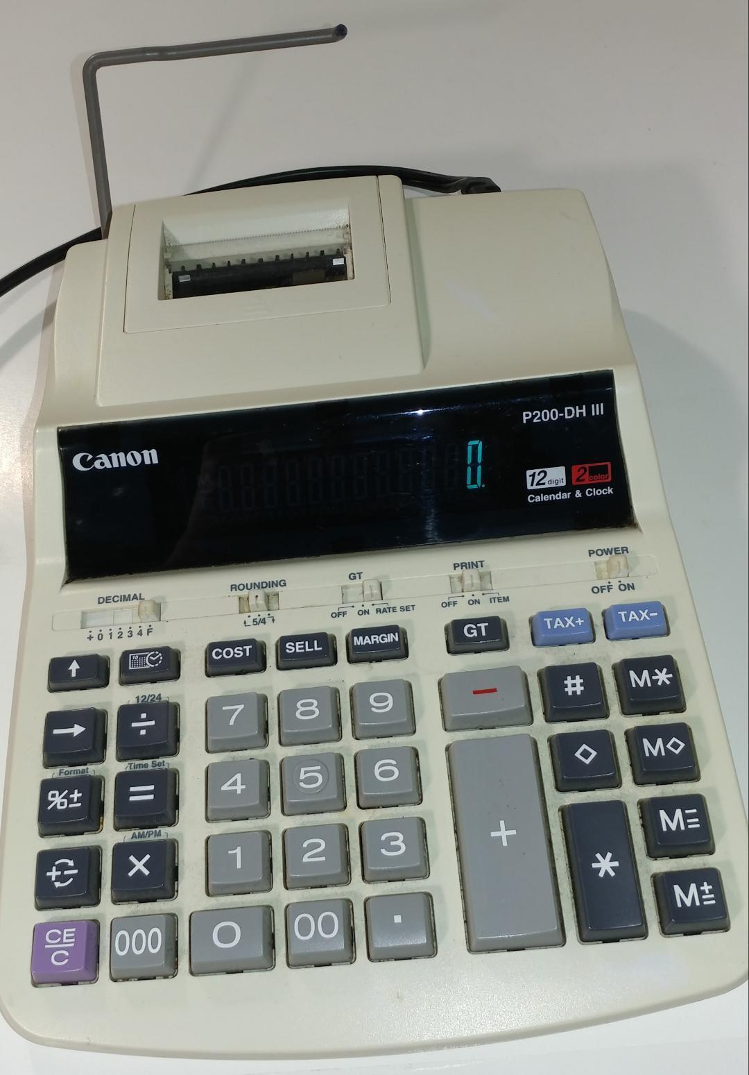 Canon P200-DH iii Desktop Printing Calculator Used,everything works very well