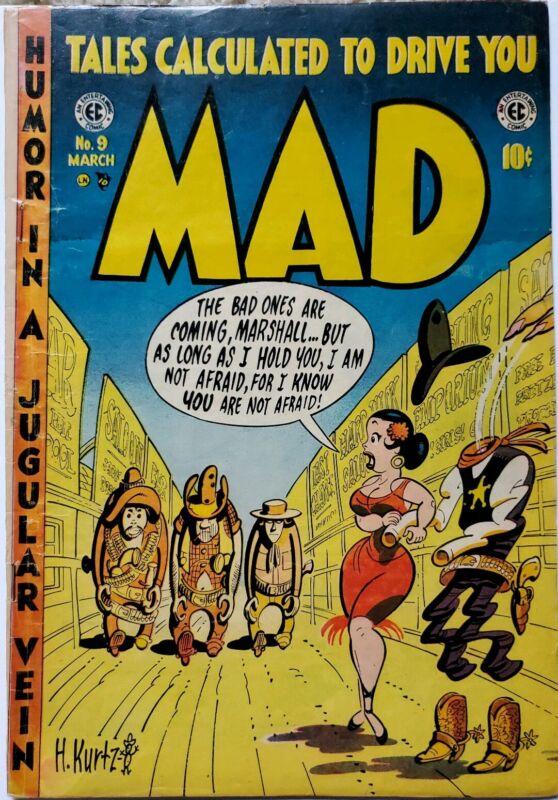 MAD #9 VG/FN 5.0 EC 3/1954